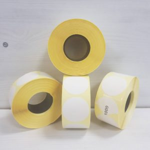Етикетка напівглянець 50х50 кругла - www.ribbon.org.ua